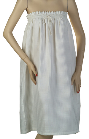 Treatment Gown Plus Size White Waffle